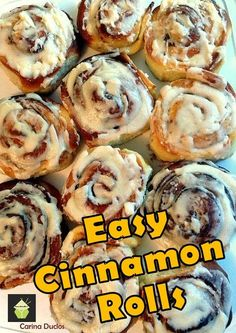 Easy Cinnamon Rolls. A deliciously sweet, soft sticky bun with a great vanilla glaze.These are really tasty!!