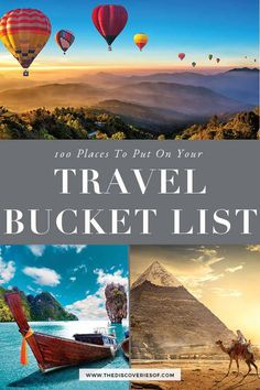 Check out my epic travel bucket list. 100 incredible travel destinations that will stuff your eyes with wonder and fuel your wanderlust! From Europe to the USA, Canada to Australia, how many of these travel bucket list spots have you already checked off? Travel Destinations Bucket Lists, Travel Checklist, Packing Tips For Travel, Europe Destinations, Japan Travel, Italy Travel, Travel Usa, Food Travel, Tumblr New York