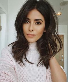 Best Dark Brown Hair With Face Framing