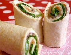 "offers the recipe ""Wraps of smoked salmon, Saint Moret and Green salad . vous propose la recette ""Wraps de saumon fumé, Saint Moret et Salade verte… offers the recipe ""Wraps of smoked salmon, Saint Moret and Green salad"" rated by 57 voters. Food Porn, Mini Croissants, Brunch Party, Bruchetta, Wrap Sandwiches, Smoked Salmon, Enchiladas, Clean Eating Snacks, Eating Healthy"