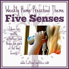 Five Senses Theme for Weekly Home Preschool.  Crafts, games, activities, snack, and book recommendations!  Perfect amount of ideas for one week of home preschool.