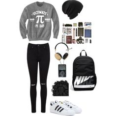 Aliona by lilichko on Polyvore featuring мода, Miss Selfridge, adidas, NIKE, Frends, Coal and Urban Decay