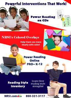 Go to www.nrsi.com to learn more about what we have to offer you to help your struggling readers become POWERFUL readers! :)