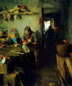 Abram Arkhipov. In the mask shop. 1897
