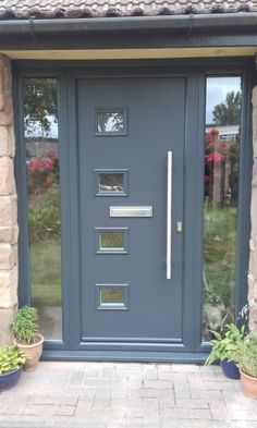 Farmhouse Front Door Entry Contemporary With Porch Light . New JB Kind Extreme External Doors Norman Piette. Home and Family Front Door Porch, Grey Front Doors, Porch Doors, Modern Front Door, House Front Door, House Doors, House With Porch, Windows And Doors, Upvc Windows