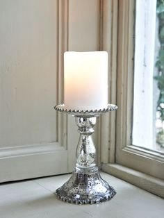 Antique Style Pillar Candle Holder
