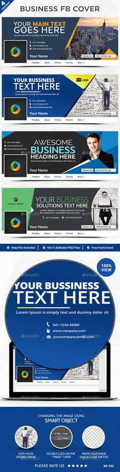 Business Facebook Cover Template #design Download: http://graphicriver.net/item/business-facebook-cover/12643695?ref=ksioks