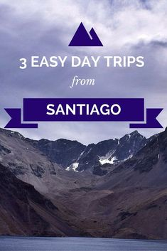 3 easy day trips from Santiago, Chile. Valparaiso is a must! The buses in South America are relatively inexpensive and reliable, so it's a great way to explore outside of this amazing city.
