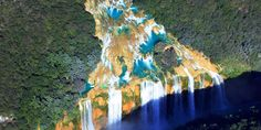 Cascada - Tamul - The turquoise blue water falls 105 meters over the waterfall makes this one of Mexico's Hidden Gems.