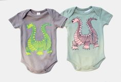 Elliot - Organic Cotton - dragon baby bodysuit - from Earth Cadets