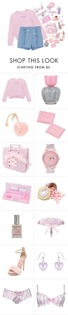 """""""-ITS MY BIRTHDAY!!-"""" by akiko-pastel-princess ❤ liked on Polyvore featuring Chicnova Fashion, Forever 21, Juicy Couture, Harajuku Lovers, Hello Kitty, Monique Lhuillier, Divine Silver and Alexis Smith"""
