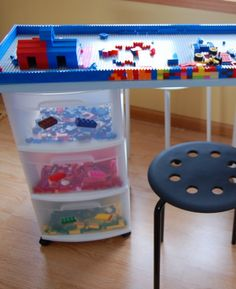 Easy to do plastic box storage idea for toys