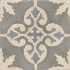 Moroccan Encaustic Cement Pattern Grey Tile gr06 | £ 2.47 | Moroccan Encaustic Cement Pattern Tiles | Best Tile UK | Moroccan Tiles | Cement Tiles | Encaustic Tiles | Metro Subway Tiles | Terracotta Tiles | Victorian Tiles