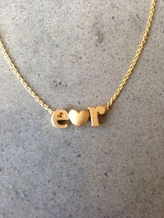 Lower case initial necklace gold initial gold letter by BijouLimon, $21.00
