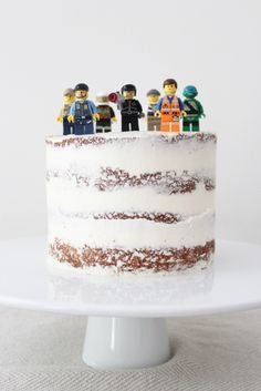 Lego Party Cake / Seven Simple but Amazing Cake Ideas / Naked Cake / Arrow & Lace Designs (Amazing Cake Design) Easy Cake Decorating, Birthday Cake Decorating, Lego Birthday Party, Birthday Parties, Cake Birthday, Lego Parties, Ninjago Party, 9th Birthday, Girl Birthday