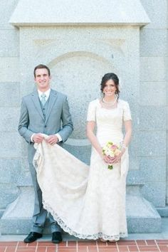 Cute picture pose - #wedding #dress #sleeves #lace #modest #lds #temple #mormon by ruthie