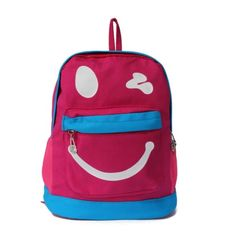 Children School Backpack with Smiley Printing