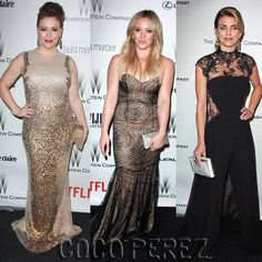 Hilary Duff, Alyssa Milano, and AnnaLynne McCord show off their supreme senses of style after the Golden Globes!