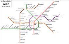 U-Bahn Wien. / U-Bahn-Linie - Station Praterstern Poland Travel, Austria Travel, Transport Map, Public Transport, U Bahn Plan, Singapore Map, Trains, Underground Map, Train Map