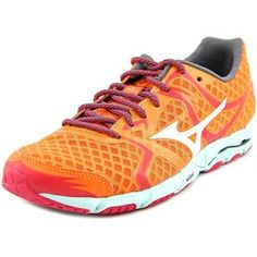 reputable site 46319 e0a48 Mizuno Women s Wave Hitogami Orange Mesh Athletic Running Shoes