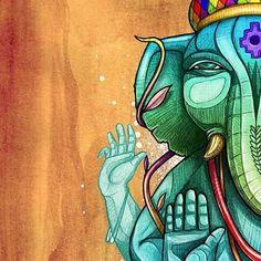 #Ganeshawagen #ilustracion #grafica #graffiti #stylo #wipala #nachonass #chile #santiago #latinoamerica #indioamericano #ganesha #ganesh #dualidad #2016 Diwali Drawing, Graffiti, Elephant Art, Lord Ganesha, Chile, Spiderman, Faith, Wallpapers, Stickers