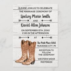 Country Love Western Rustic Wedding Invitation Western Wedding Invitations, Country Wedding Invitations, Beautiful Wedding Invitations, Rustic Invitations, Card Wedding, Wedding Stationery, Diy Wedding, Wedding Gifts, Bridal Shower Cards
