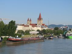 Vienna, Austria from the Danube River