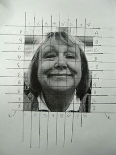 Take your photograph. Use a 1 inch grid over the whole photo