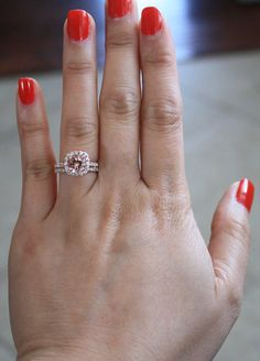 SET Morganite Engagement Rings in 14K Rose Gold by Studio1040! This is the ring that I want!!