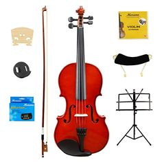 Merano 18 Size Violin with Case and BowExtra Set of Strings Extra Bridge Shoulder Rest Rosin Metro Tuner Black Music Stand Mute Natural -- See this great product.Note:It is affiliate link to Amazon.