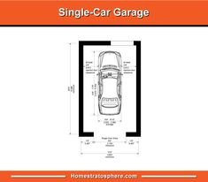 Standard Single Car Garage Size Novocom Top