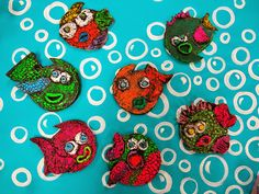 Cassie Stephens: In the Art Room: First Grade Slab Fish and Under the Sea Sculptures