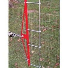 Fence puller stretcher tool for farm, yard, garden, landscaping, wildlife and other management needs. Attach to your tractor, truck, atv, tree, stump, or other stationary object and tighten fencelines to a neat and straight row. Easy to use, stronger more heavy duty construction than standard ones available, and made taller for a more even distribution of force on the entire fence height.