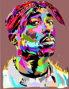 Tupac graphic (photograph not owned by me)