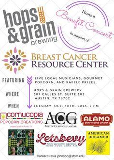 #FOEAUSTIN Benefit Concert for Breast Cancer Resource Center - http://fullofevents.com/austin/event/benefit-concert-for-breast-cancer-resource-center/
