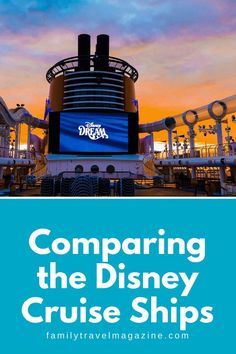 If you are considering a trip on the Disney Cruise Line, you may be wondering what is the best Disney Cruise Line ship. All four are great, so it's best to look at the specific activities, restaurants, itineraries, and other amenities. Disney Cruise Ships, Run Disney, Disney Dream, Animation Classes, Senses Spa, Castaway Cay, Western Caribbean, Alaskan Cruise, Disney Fantasy