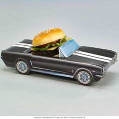 Classic Cruisers ® 64 1/2 Black Mustang Carton | Party Favors | RetroPlanet.com Host the coolest party in town with these 1964 Ford Mustang paperboard cartons! Classic Cruisers ® are great for birthdays, milestone celebrations, and anniversary parties. Use them as vintage style table decorations or add the hot/cold food inserts for use as candy goodie baskets and party favors!