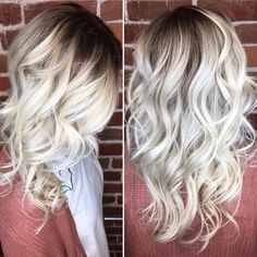 Stylist Christian gave this guest a gorgeous darkened icy balayage! Reserve today: 816-605-1949 #theglamroomkc