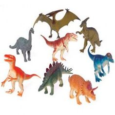 Find all of your favorite dinosaurs in this assortment of prehistoric creatures. This 6 in. toy dino figure will make any themed party come alive. Animal figures are fun for any goody bag or as prizes for a school or church carnival. Dinosaur Balloons, Dinosaur Toys, Dinosaur Party, Dino Toys, Dinosaur Birthday, Carnival Supplies, Party Supplies, Carnival Prizes, Funny Stories For Kids