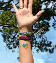 We believe in love and equality for ALL with our rainbow heart temporary tattoo. #pride