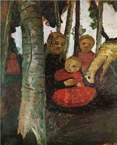 Three Children with Goat in Birch Forest, 1904 by Paula Modersohn-Becker on Curiator, the world's biggest collaborative art collection. Paula Modersohn Becker, Mona Lisa, Female Painters, Birch Forest, Digital Museum, Collaborative Art, Three Kids, Oeuvre D'art, Great Artists