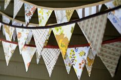 Autumn Thanksgiving  Party Bunting  Pennant Banner  by tinamagee, $25.00