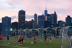 Get a kick out of the sports fields, playgrounds and bike paths that make Pier 5 the ultimate hub for active park goers. Brooklyn Bridge Park, Bike Path, City State, Workout Gear, Paths, Fields, New York City, Dolores Park, Soccer