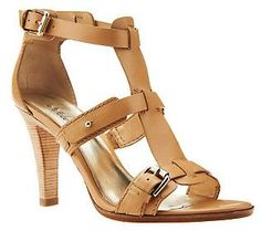 Neutral gorgeousness! {Belle by Sigerson Morrison Heeled T-Strap Leather Sandals}