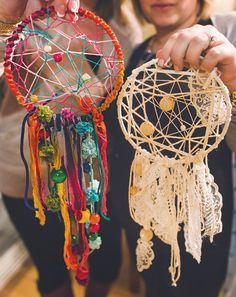 Make Your Own Dreamcatcher Crafting Night is part of Boho Sorority crafts A Party for friends to make your own dreamcatcher, with colorful craft supplies (beads, feathers, string), berry & chocolate - Girls Night Crafts, Craft Night, Crafts For Girls, Crafts To Do, Arts And Crafts, Summer Camp Crafts, Camping Crafts, Bulletins, Color Crafts