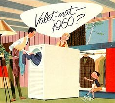 Valet-mat 1960? It could well be that in less than a decade a compact new appliance for the home will clean and press a suit, coat or dress in seconds.
