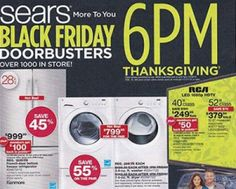 SEARS $$ Black Friday Ad 2014!
