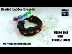 Finger Loom (Rainbow Loom) Review & BEADED LADDER Bracelet. Review and Tutorial by Kate Schultz of Izzalicious Designs. Click photo for YouTube video. 09/04/14.