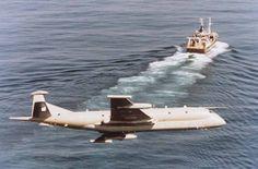 RAF Nimrod Maritime Support a/c, circling a fishing trawler..