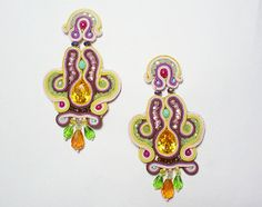 Hey, I found this really awesome Etsy listing at http://www.etsy.com/pt/listing/153261367/soutache-earrings-summer-yellow-rainbow